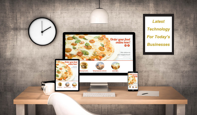 technology devices for pizza restaurant online ordering system