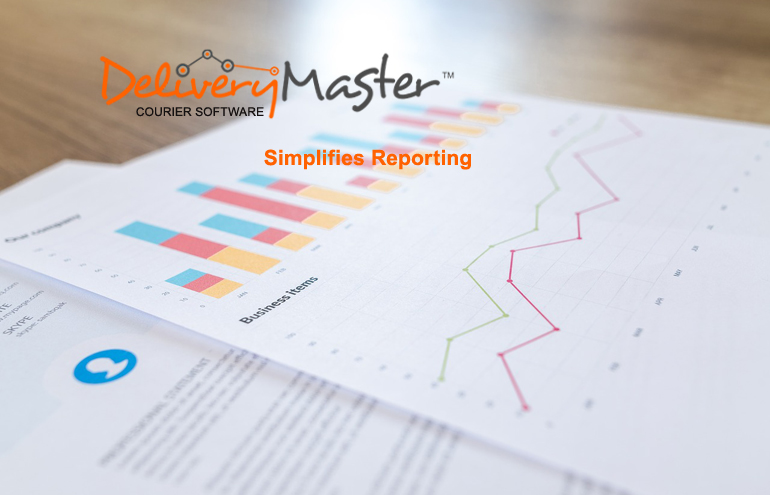 business report and graph chart produced by Courier Software