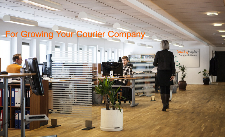 Modern Office Workspace of a Courier Company