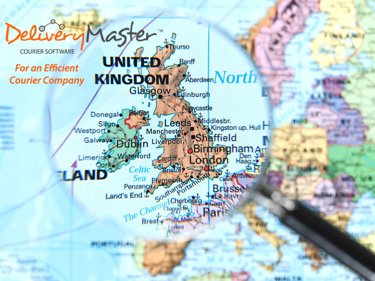 United Kingdom Map for an Efficient Courier Company