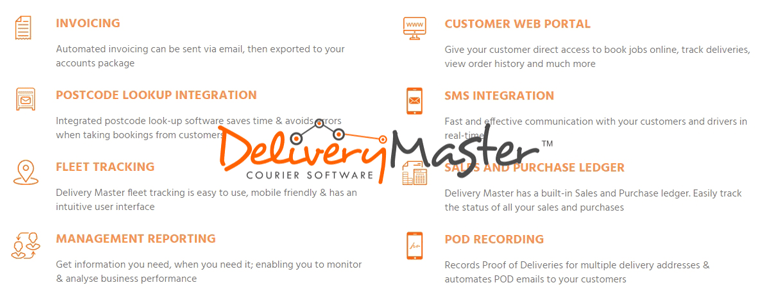 Main Features of Delivery Master Same Day Courier Management Software Package