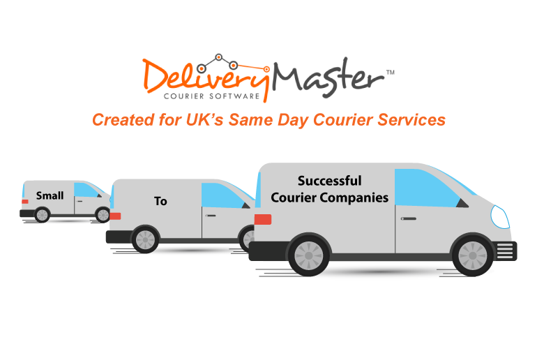 small medium and large courier vans illustrated