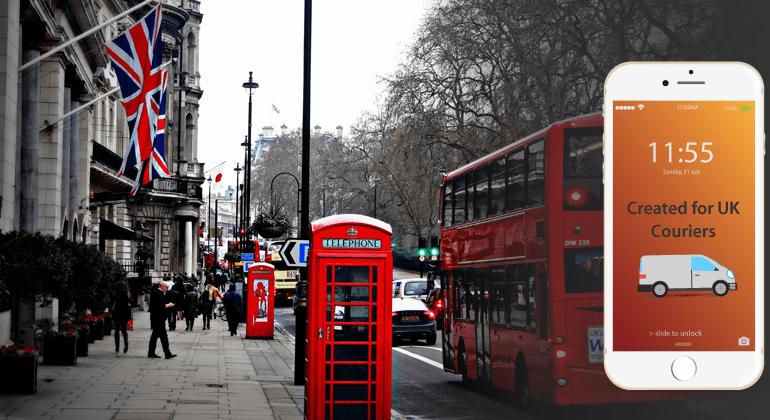 busy crowded London UK street traffic